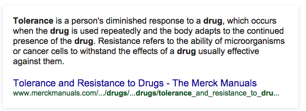 Opiate Tolerance Definition